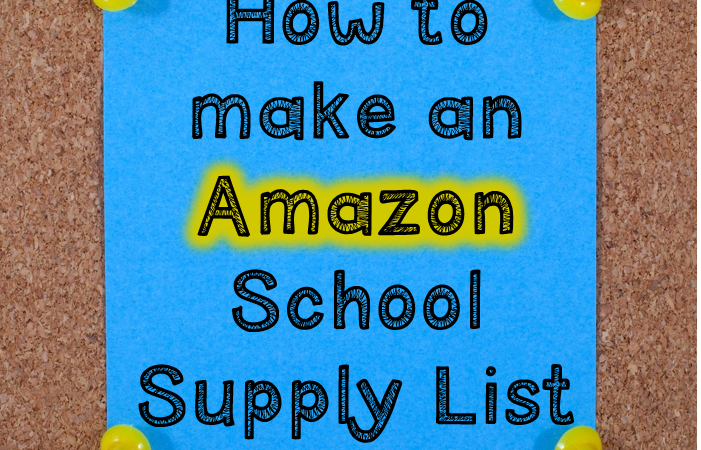 Create Your Own Amazon School Supply List!