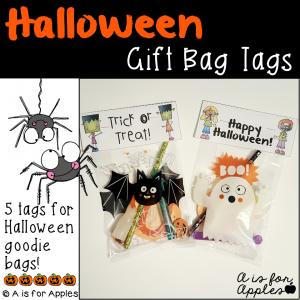 halloween gift bag tags freebie