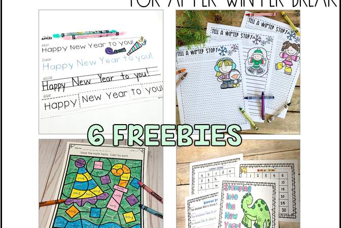 No Prep Freebies for After Winter Break