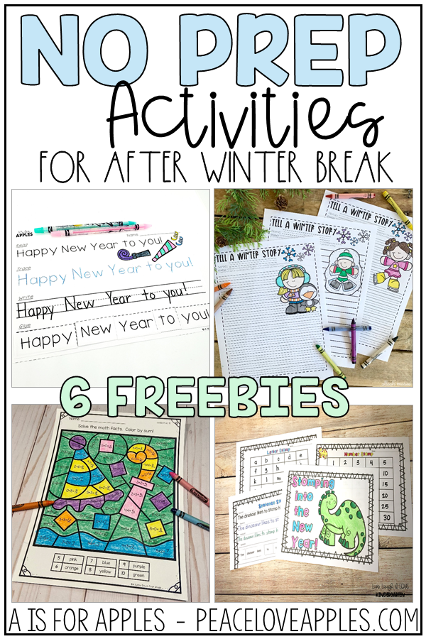 after winter break freebies