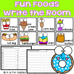 Fun Foods Write the Room