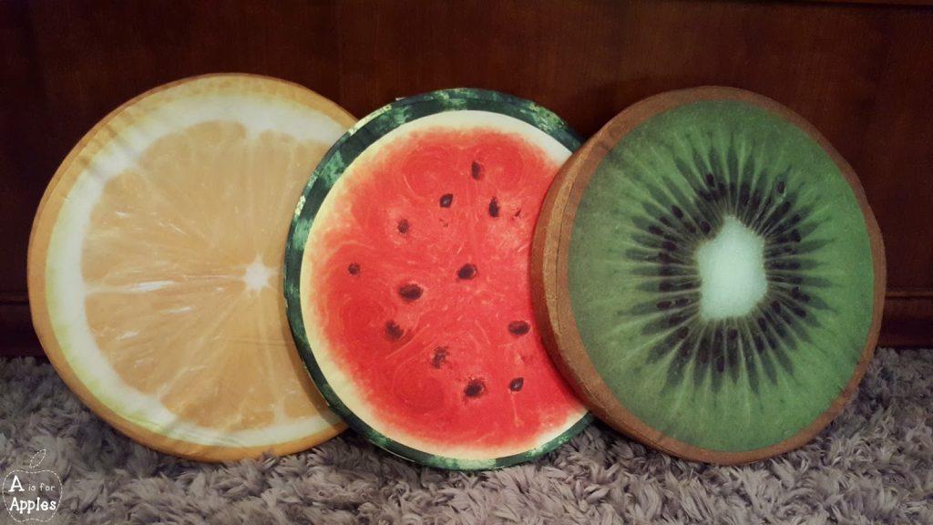 fruit pillow cushions