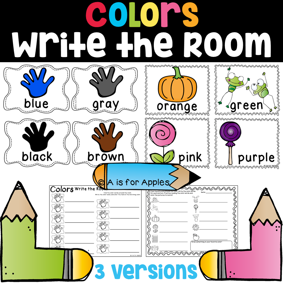 color fun activities write the room