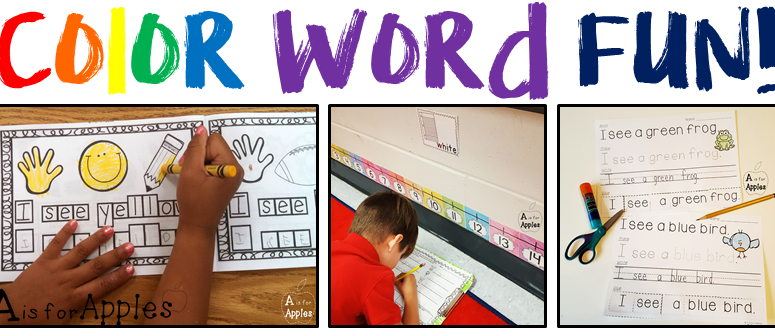 Fun Activities for Color Words (and a FREEBIE!)
