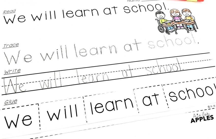 Read-Trace-Write-Glue Sentences