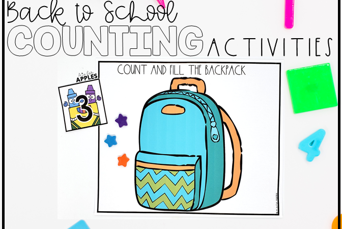 Back to School Numbers and Counting