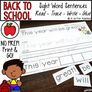 Sight Word Sentences - BTS
